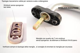 blocca maniglia A01A18 piano winblock